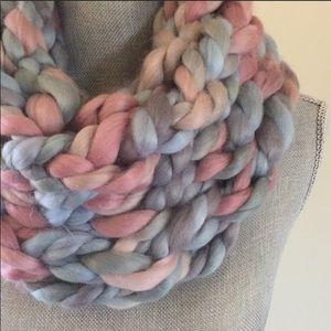 Handmade Chunky Arm Knit Infinity Scarf